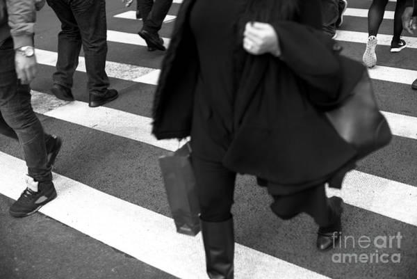 Photograph - Crossings Lunch Break New York City by John Rizzuto