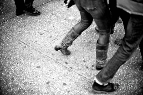 Photograph - Crossings On Toes New York City by John Rizzuto