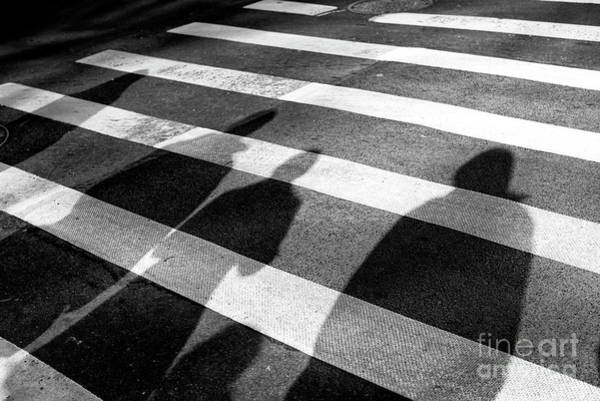 Wall Art - Photograph - Crossings Shadow People New York City by John Rizzuto