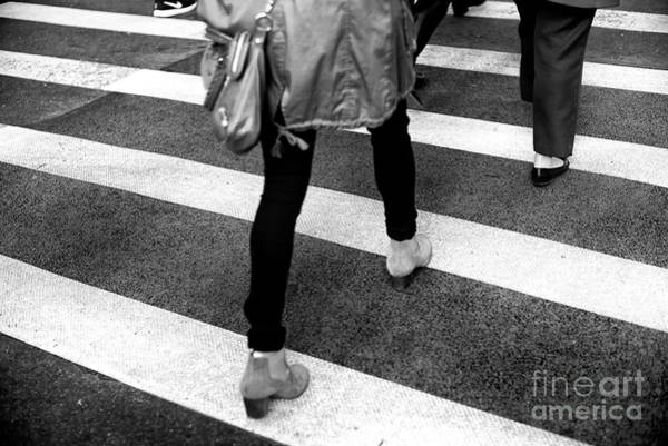 Photograph - Crossings Suede Shoes New York City by John Rizzuto