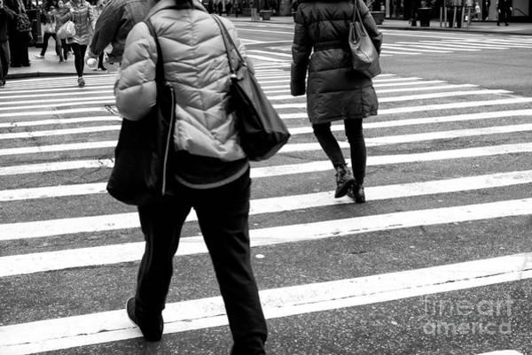 Photograph - Crossings With A Handbag New York City by John Rizzuto
