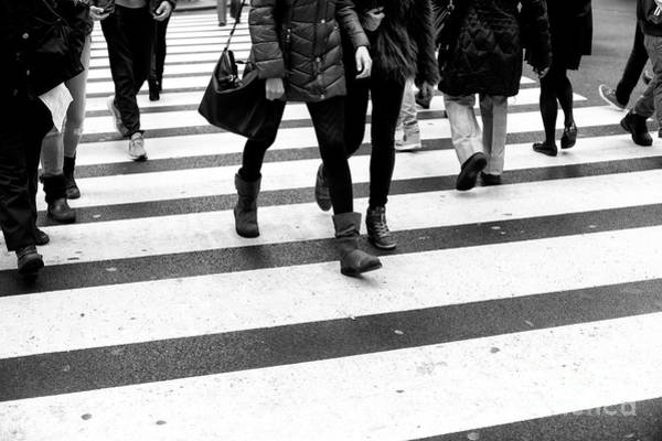 Photograph - Crossings With Skinny Legs New York City by John Rizzuto