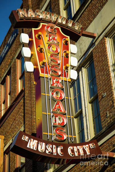 Wall Art - Photograph - Crossroads Broadway Neon Signage Nashville Tennessee Art by Reid Callaway