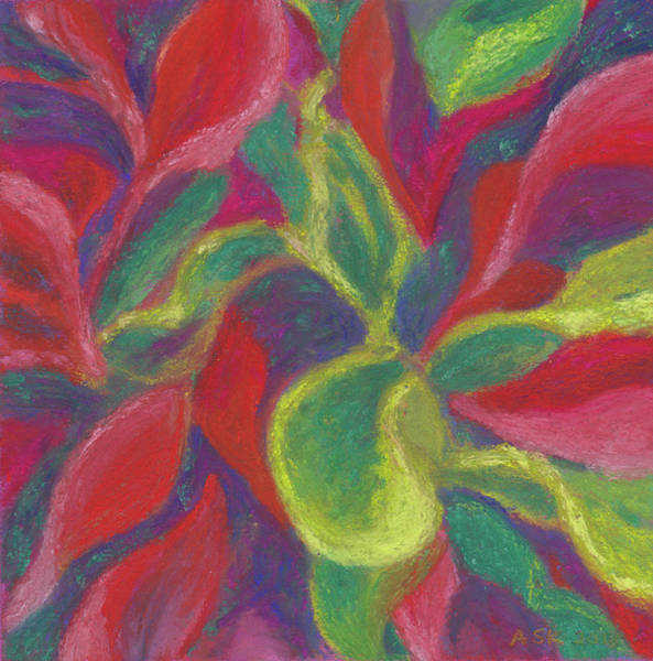 Pastel - Crotons Catch My Eye by Anne Katzeff