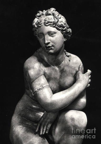Wall Art - Sculpture - Crouching Venus by Greek School