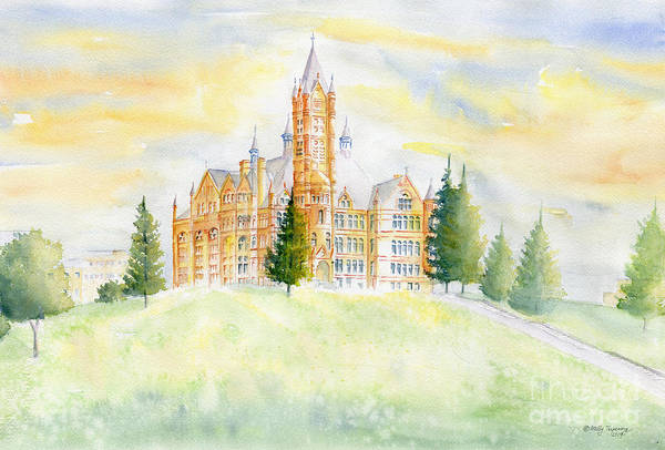 Wall Art - Painting - Crouse College Syracuse University by Melly Terpening