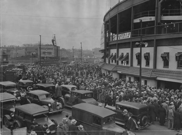 Photograph - Crowd At Wrigley During World Series by Chicago History Museum