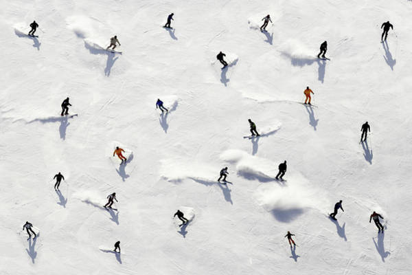 Skiing Photograph - Crowded Holiday by Mistikas