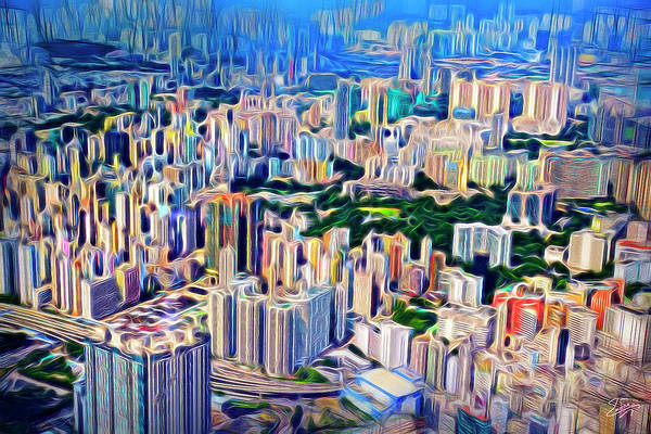 Photograph - Crowded Hong Kong Abstract by Endre Balogh