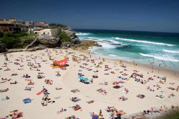 Wave Photograph - Crowded Tamarama Beach In The Summer by © Francois Marclay