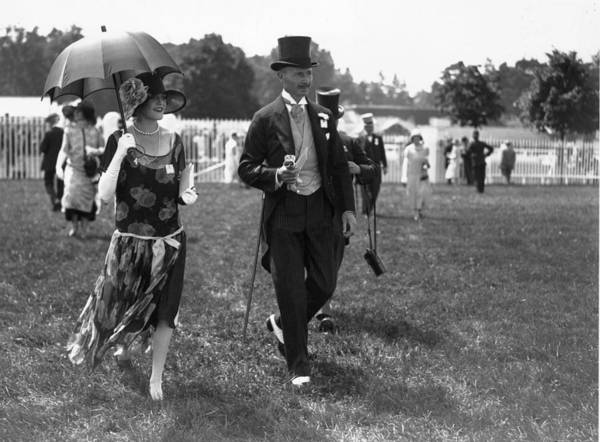 Top Hat Photograph - Crowds At Ascot by H. F. Davis