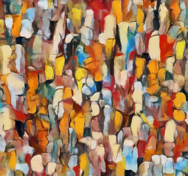 Painting - Crowds by Dan Sproul