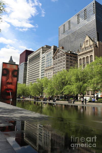 Wall Art - Photograph - Crown Fountain  by Christiane Schulze Art And Photography