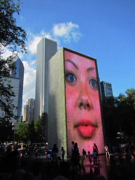 Photograph - Crown Fountain Park by Marilyn Hunt