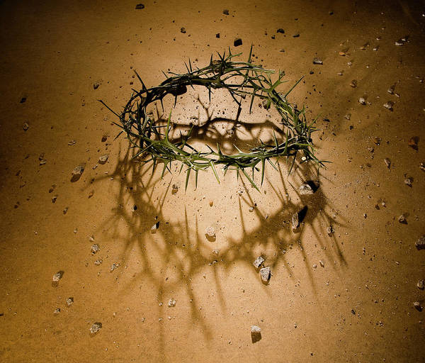 Crucifixion Of Jesus Photograph - Crown Of Thorns With Large Shadow And by Joshua Hultquist