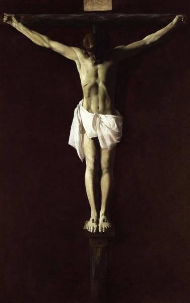 Golgotha Painting - Crucified Expiring Jesus, 1640 by Francisco de Zurbaran