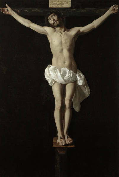 Golgotha Painting - Crucified Expiring Jesus by Francisco de Zurbaran