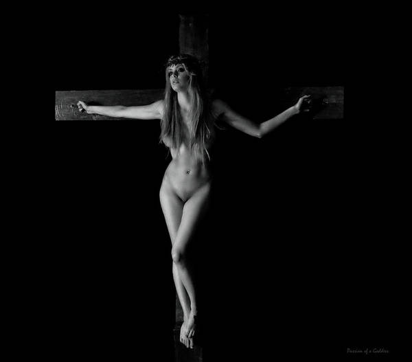 Wall Art - Photograph - Crucifix Portrait In The Darkness by Ramon Martinez