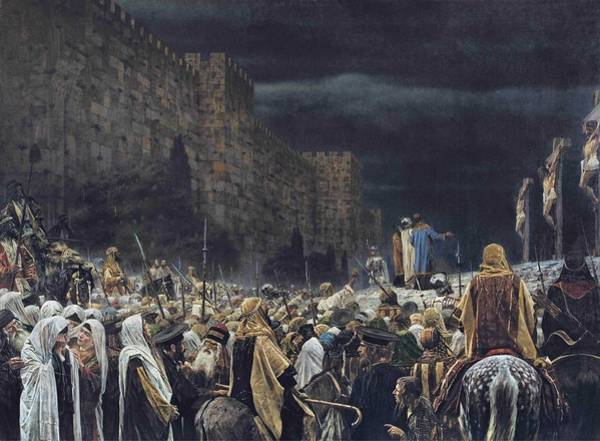 Wall Art - Painting - Crucifixion By The Romans  Vasily Vereshchagin - 1887  by Celestial Images