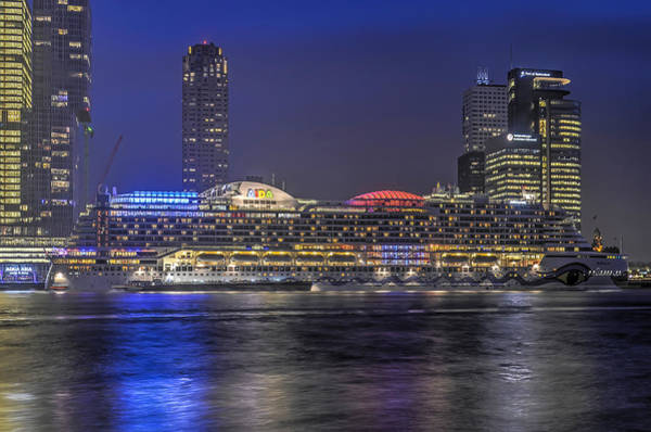 Photograph - Cruise Ship In The Blue Hour by Frans Blok