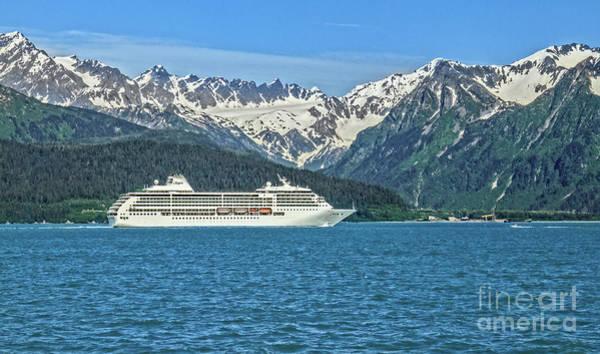 Wall Art - Photograph - Cruise Ship Leaving Seward, Alaska by Robert Bales