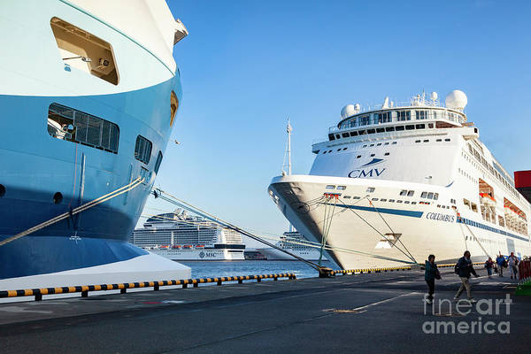 Wall Art - Photograph - Cruise Ships In Port by Colin and Linda McKie