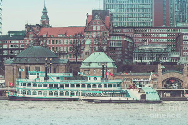 Photograph - Cruise Ships On The Elbe by Marina Usmanskaya