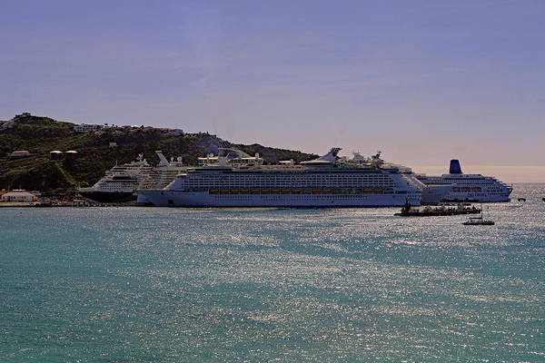 Photograph - Cruise Ships by Tony Murtagh