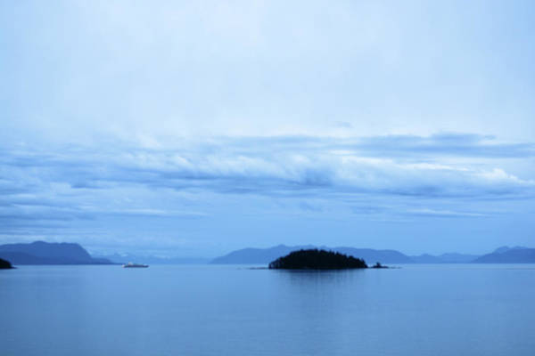 Photograph - Cruising Alaska In The Blue Hour by Connie Fox