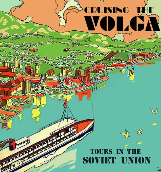 Wall Art - Painting - Cruising The Volga, Soviet Union Tours by Long Shot