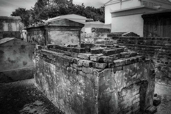 Wall Art - Photograph - Crumbling Tomb In Black And White by Greg and Chrystal Mimbs