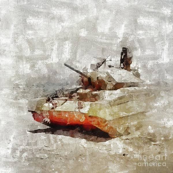 Dday Wall Art - Painting - Crusader Tank, World War Two by Mary Bassett