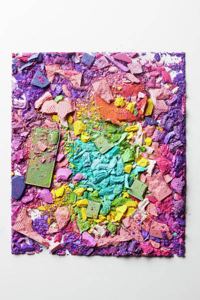 Messy Photograph - Crushed Various Make-up Powders by Fstop Images - Larry Washburn