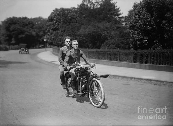 Victory Motorcycle Photograph - Crusing On The Indian by Jon Neidert