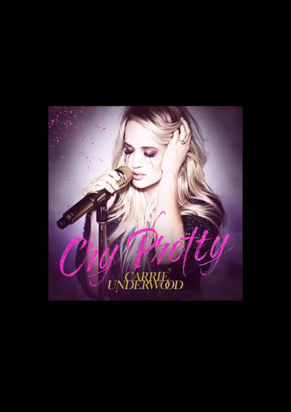 Crying Digital Art - Cry Pretty Tour Carrie Underwood by Raisya Irawan