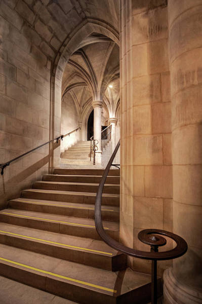 Photograph - Crypt Stairs Washington National Cathedral  by Harriet Feagin