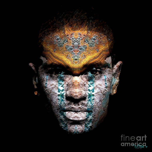 Digital Art - Cryptofacia 162 - Big Sean by Walter Neal