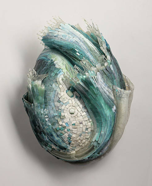 Wall Art - Glass Art - Crysalis IIi by Mia Tavonatti