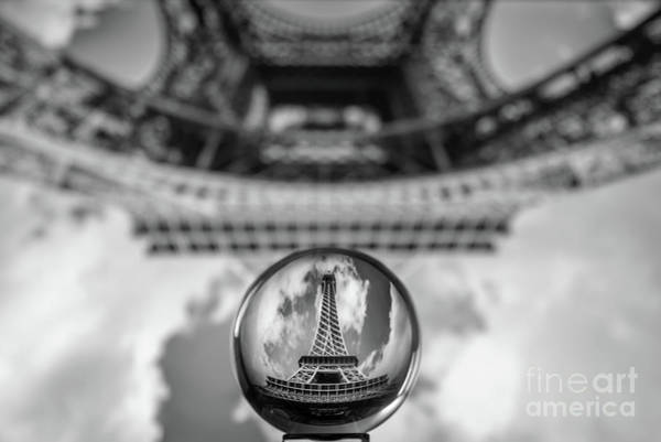 Wall Art - Photograph - Crystal Ball And Eiffel Tower by Delphimages Photo Creations