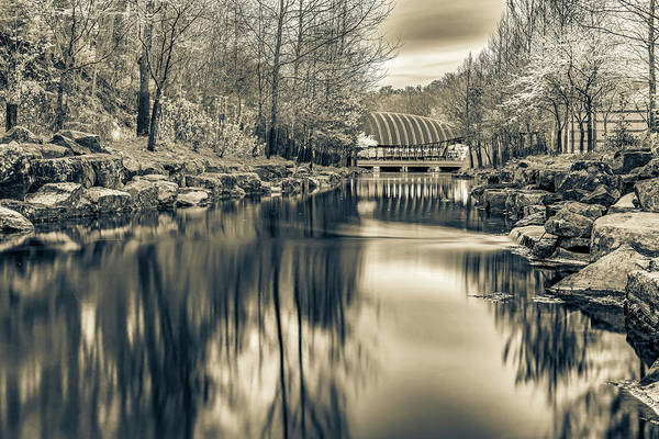 Photograph - Crystal Bridges Museum In Sepia - Northwest Arkansas by Gregory Ballos