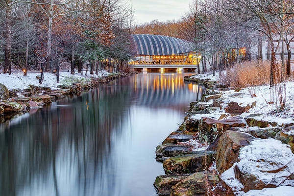 Photograph - Crystal Bridges Museum Of American Art In Winter - Northwest Arkansas by Gregory Ballos