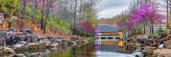 Wall Art - Photograph - Crystal Bridges Spring Landscape Panorama - Bentonville Arkansas by Gregory Ballos