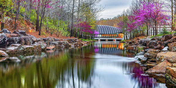 Wall Art - Photograph - Crystal Bridges Spring Nature Landscape Panorama - Northwest Arkansas by Gregory Ballos