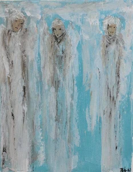 Painting - Crystal Clear Angels  by Jennifer Nease