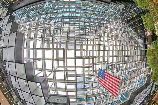 Photograph - Crystal Court Ceiling In Minneapolis Ids Center by Jim Hughes