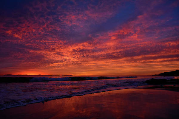 Photograph - Crystal Cove Sunset Colors by Kyle Hanson