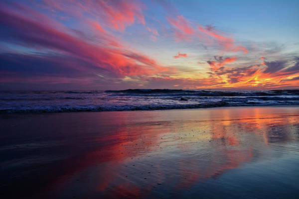Photograph - Crystal Cove Sunset Reflections by Kyle Hanson