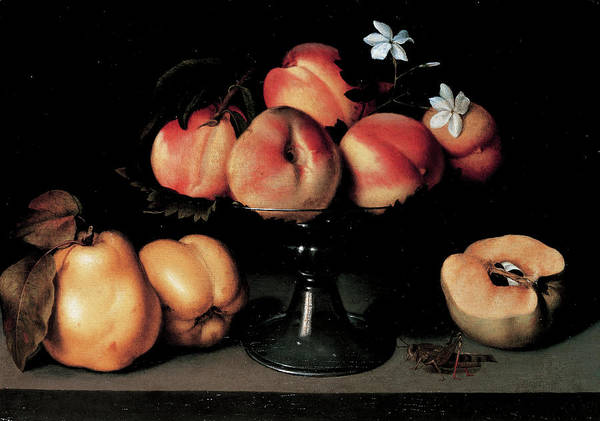 Food Groups Painting - Crystal Fruit Stand With Peaches by Mondadori Portfolio
