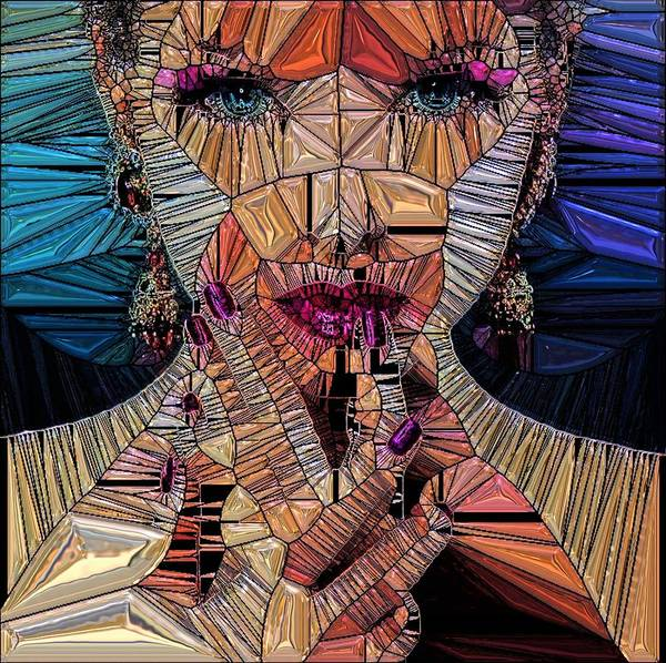 Wall Art - Digital Art - Crystal Girl by ArtMarketJapan