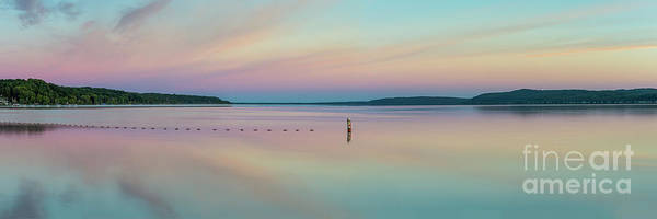 Wall Art - Photograph - Crystal Lake Dawn Panorama by Twenty Two North Photography
